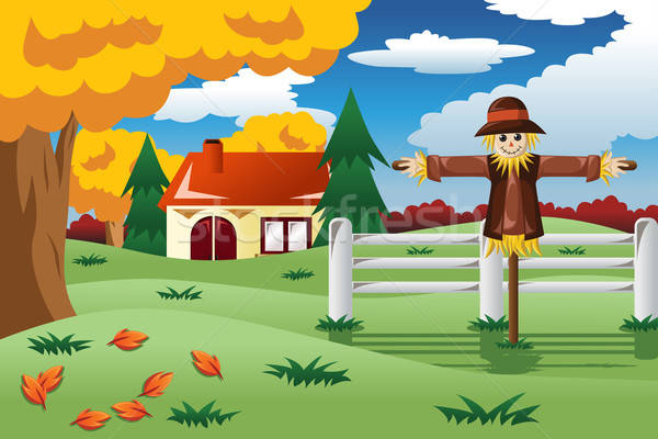 Scarecrow in the Fall season Stock photo © artisticco