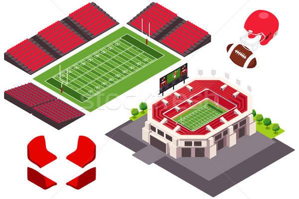 Izometryczny widoku piłka nożna stadion ilustracja tle Zdjęcia stock © artisticco