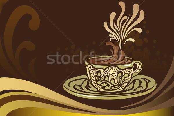 Kávésbögre terv csokoládé művészet kávézó rajz Stock fotó © artisticco