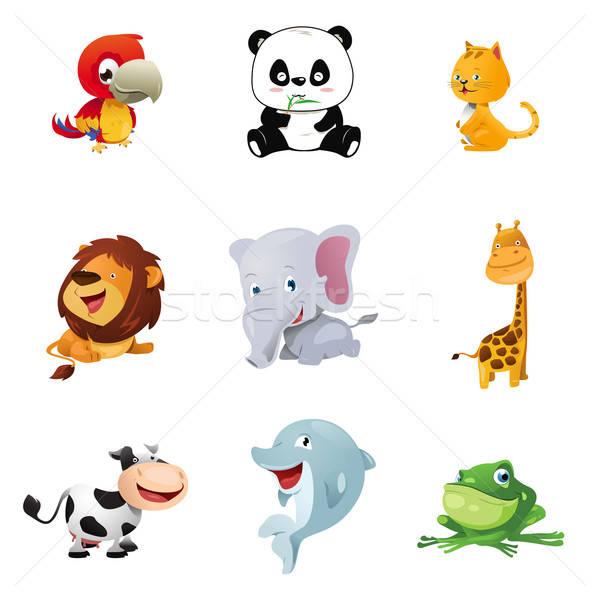 Animal icons Stock photo © artisticco