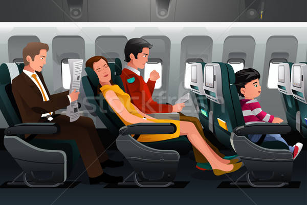Airline passengers Stock photo © artisticco