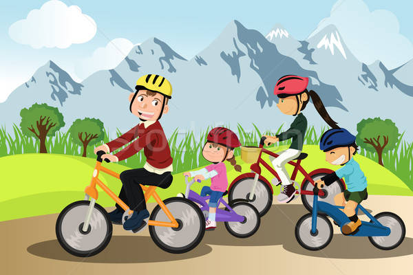 Family biking Stock photo © artisticco
