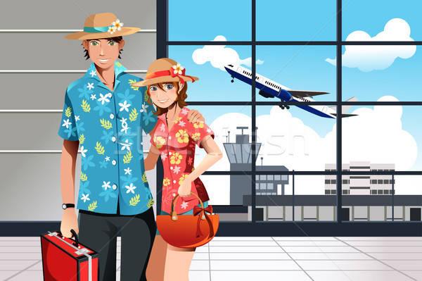 Summer traveling couple Stock photo © artisticco