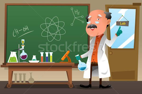 Chemie hoogleraar werken lab leraar baan Stockfoto © artisticco