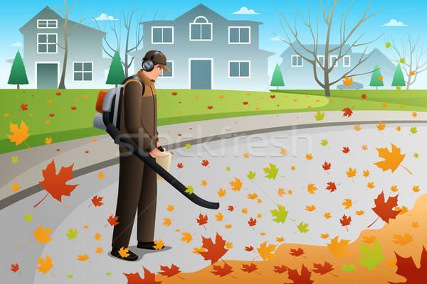 Man schone omhoog bladeren blazer Stockfoto © artisticco