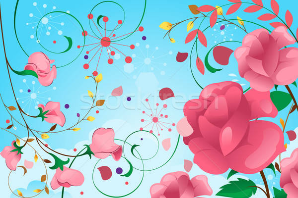 Floral Background Design Stock photo © artisticco