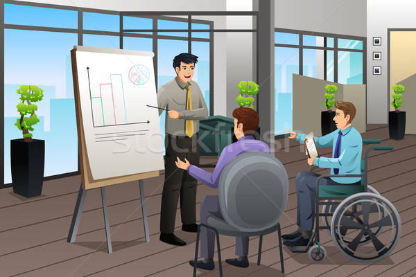 Stock photo: Businessman Meeting in Office
