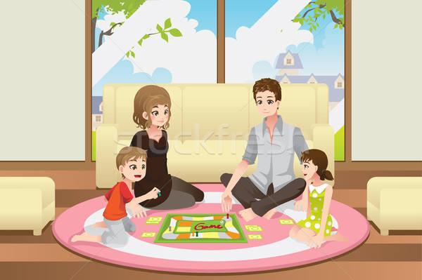 семьи играет совета игры вектора счастливым Сток-фото © artisticco