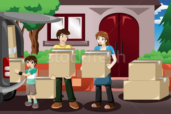 Family moving house Stock photo © artisticco