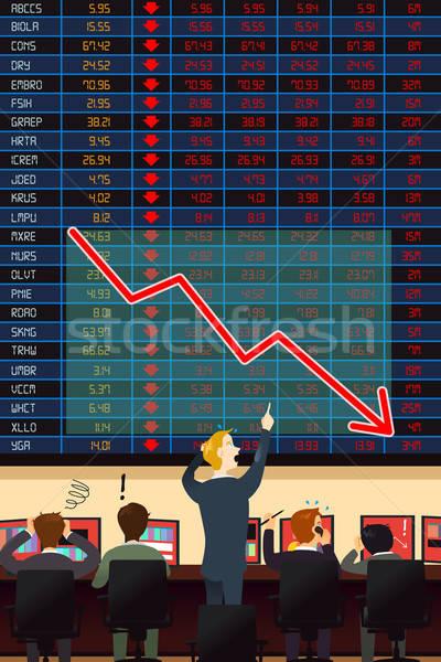 экономический кризис служба бизнесмен Финансы рынке Сток-фото © artisticco