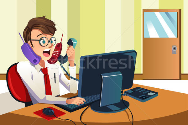 Busy businessman on the phone Stock photo © artisticco
