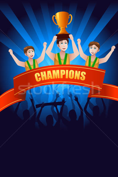 Champions poster Stock photo © artisticco