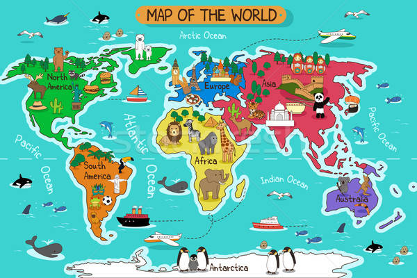 Map of the world Stock photo © artisticco