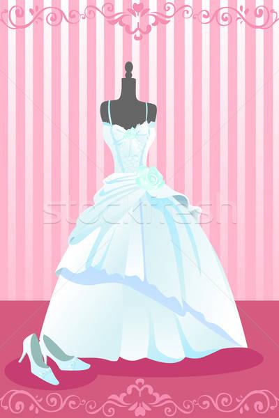 ウェディングドレス ペア 結婚式 靴 ファッション 背景 ストックフォト © artisticco