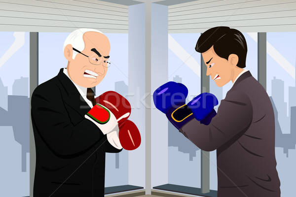 Business concept of two businessmen fighting Stock photo © artisticco