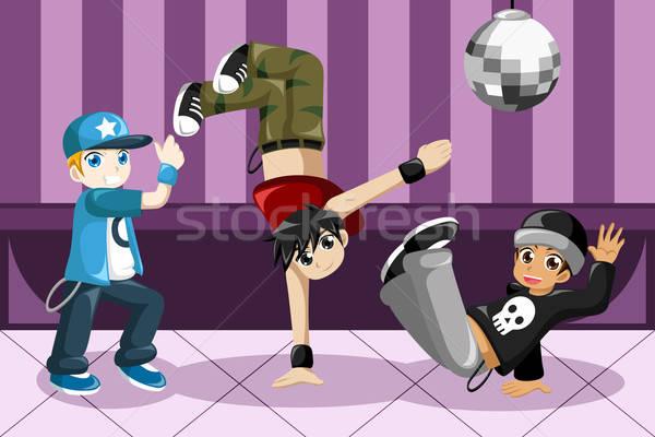 Enfants danse hip hop enfants jeunes danseur Photo stock © artisticco