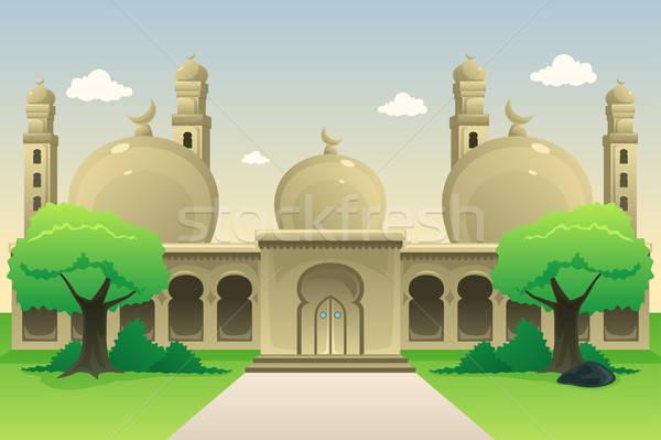 Mezquita oración Cartoon religión Foto stock © artisticco