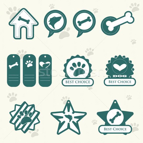 Dog labels Stock photo © artisticco