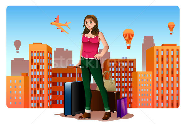 Young Woman Traveling Around The World Concept Stock photo © artisticco