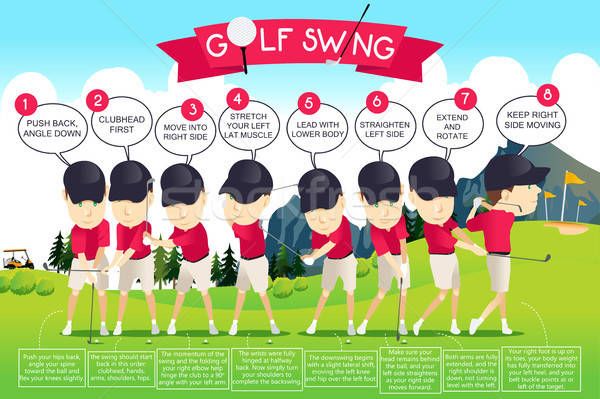 Golf Swing Instruction Infographic Stock photo © artisticco