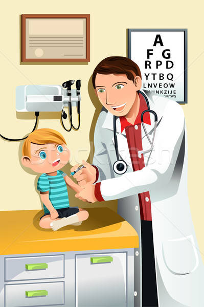 Pediatrician with child Stock photo © artisticco
