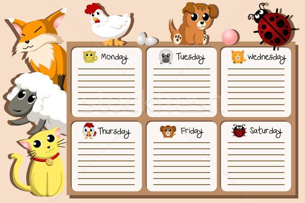 School timetable design Stock photo © artisticco