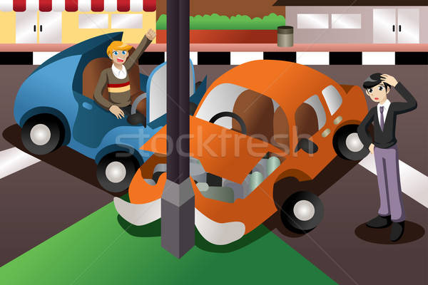 Car accident in the city Stock photo © artisticco