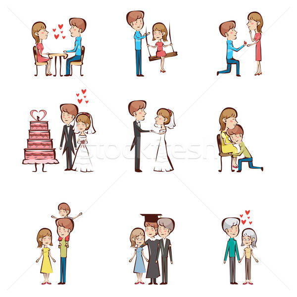 Life cycle of a couple Stock photo © artisticco