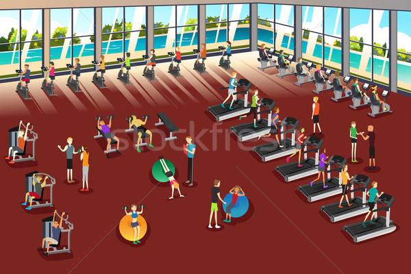 Scenes Inside a Fitness Center Stock photo © artisticco