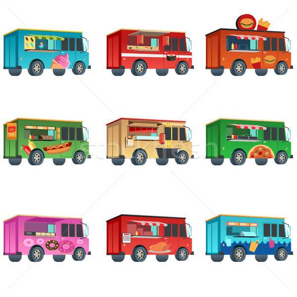 Different Food Truck Designs Stock photo © artisticco
