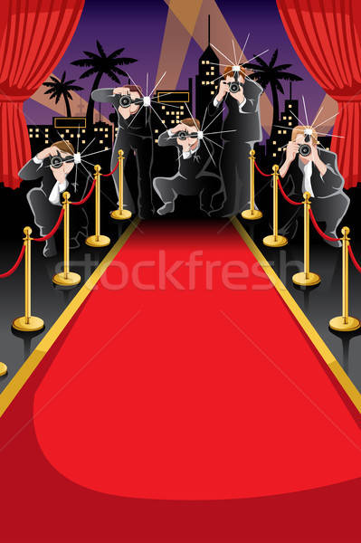 Tapis rouge paparazzi espace de copie mode fond star Photo stock © artisticco