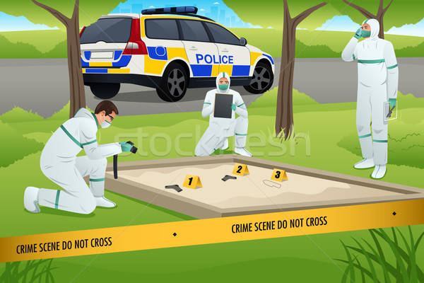 Forensic Working on a Crime Scene Stock photo © artisticco