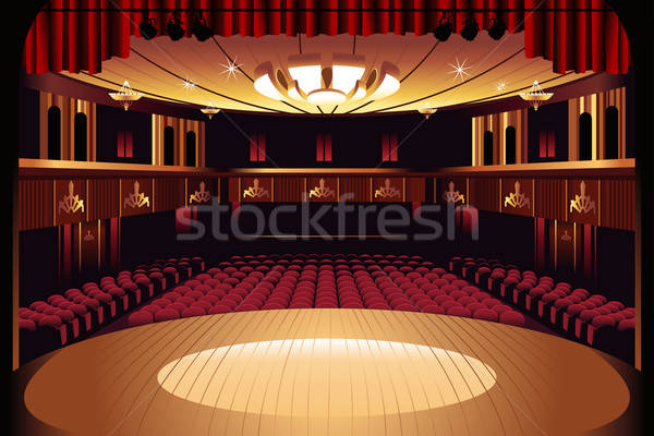 Lege theater fase interieur show hal Stockfoto © artisticco