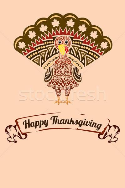 Thanksgiving turkey Stock photo © artisticco