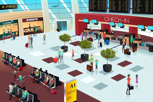 Inside the airport scene Stock photo © artisticco