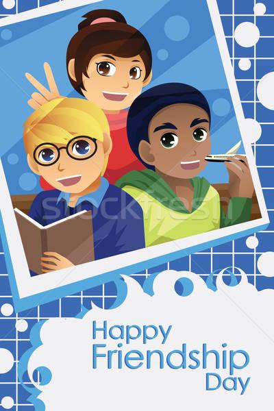 Crianças amizade dia crianças feliz Foto stock © artisticco