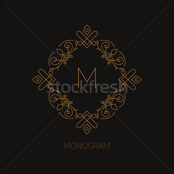 Monograma projeto modelo de design carta desenho decoração Foto stock © artisticco