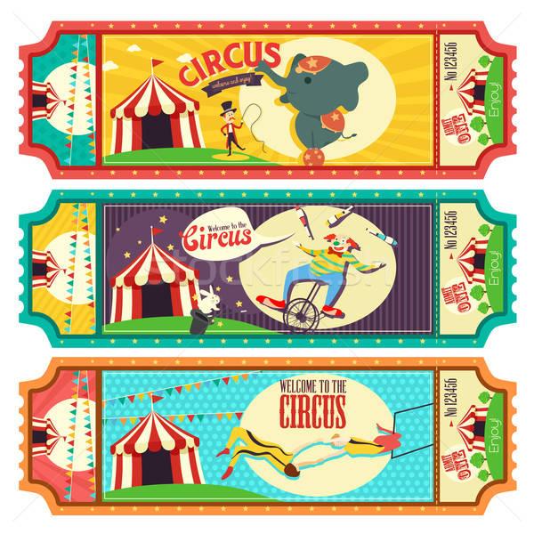 Circus Ticket Design Stock photo © artisticco
