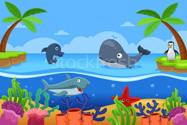 Marine Life in the Ocean Stock photo © artisticco