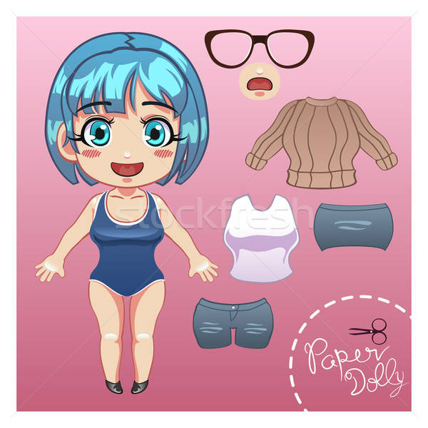 Cut Dress Up Paper Doll  Stock photo © artisticco