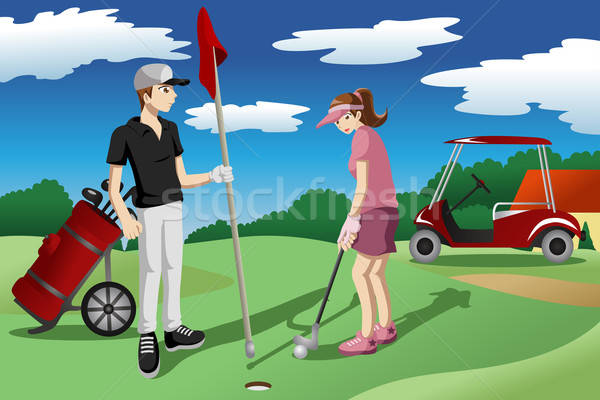 Young people playing golf Stock photo © artisticco