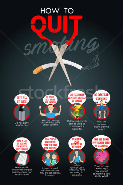 Stock photo: How to Quit Smoking Infographic
