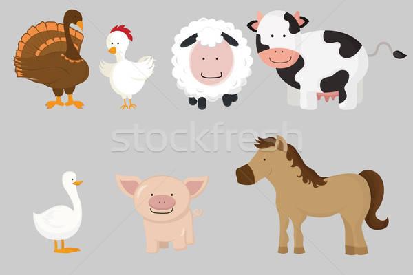 Farm animals Stock photo © artisticco