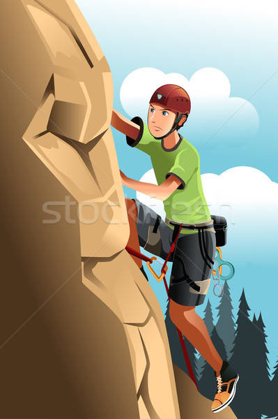 Rock climber Stock photo © artisticco