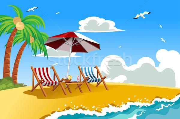 Tropikal plaj manzara deniz yaz okyanus Stok fotoğraf © artisticco