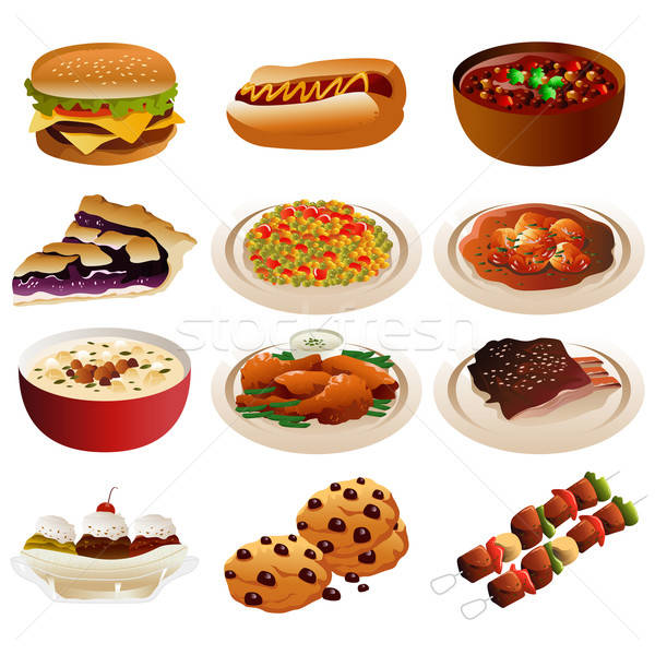 American food icons Stock photo © artisticco