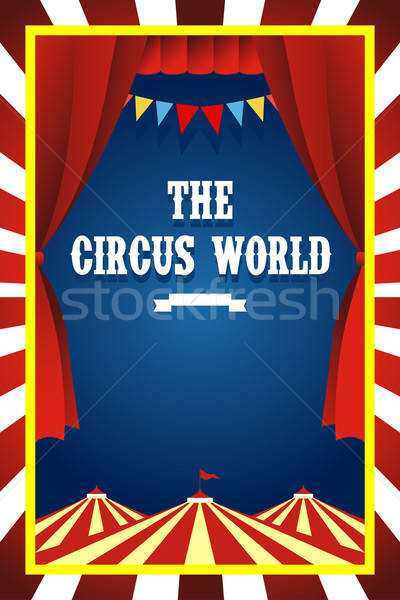 Circus brochure Stock photo © artisticco