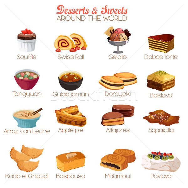 Dessert and Sweets Icons Stock photo © artisticco