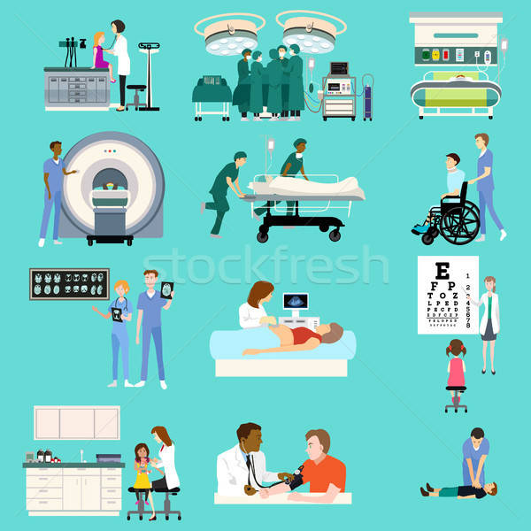 Medical Healthcare Activities Cliparts Stock photo © artisticco