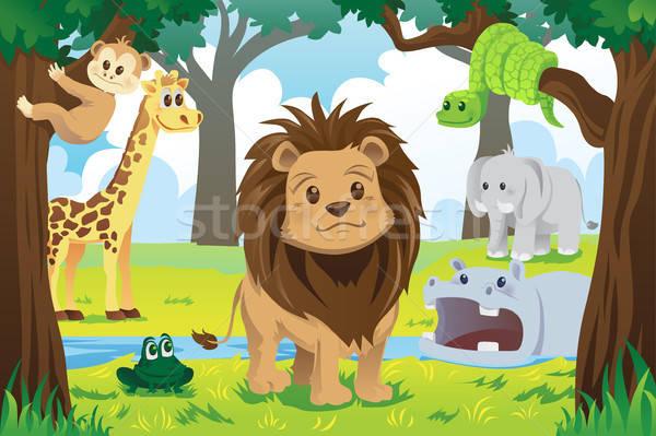 動物 王国 ジャングル 動物 自然 ストックフォト © artisticco